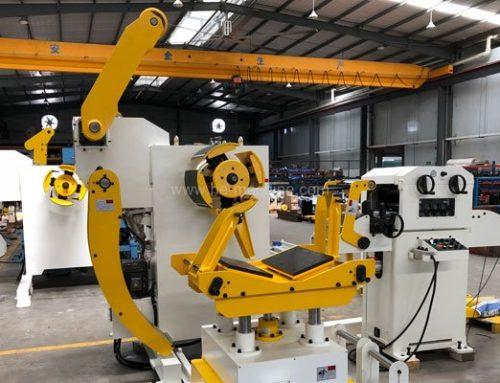 Uncoiler leveler machine ready for delivery to Dubai