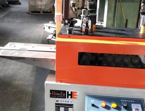 Metal sheet straightening machine working in the USA customer workshop